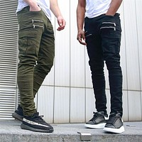 2018 Brand Men's fashion Military Cargo Pants Multi-pockets Baggy Men Pants Casual Trousers Overalls Army Pants Joggers