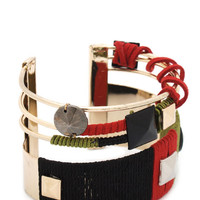 abstract-thread-wrapped-cuff GOLDMULTI - GoJane.com