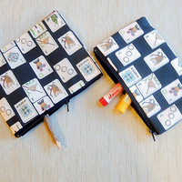 Mah Jongg Pouch/ Zipper Pouch/ Pouch/ Fabric Pouch/ Mothers Day Gift/ Coin Purse/ Change Pouch/ BFF Gift/ Make Up Bag/ Mah Jongg Tiles Case