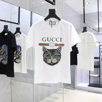 NEW 100% Authentic gucci 2018ss cat t shirt  ※026