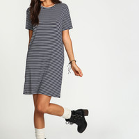 Navy Striped Tee Dress