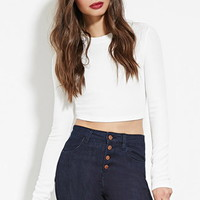 Textured Knit Crop Top