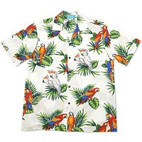 cockatoo white hawaiian cotton shirt