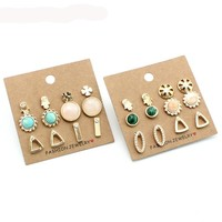 6 Pairs/Set Earrings
