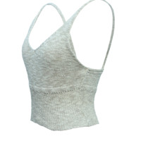 Knitted crop tank top Taupe