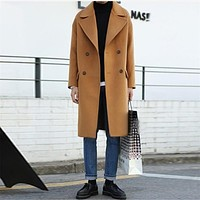 2017 New Men Autumn Winter Trench Coat Men Casual Jacket Pluse Size Loose Fashion Brand Clothing Men'S Jackets For Male T0053