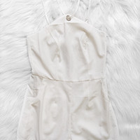 Yasmin Diamond Top Romper (White)