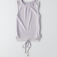 AEO Soft & Sexy Crop Wrap Tank, Lively Lilac