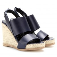 balenciaga - leather espadrille wedge sandals