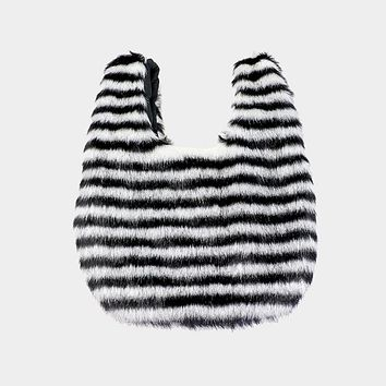 Fluffy Faux Fur Slouchy Tote Bag (Click For More Colors)