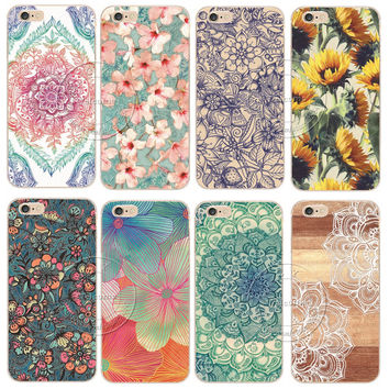 Mandala  Cell Phone Cases For Apple iPhone 5 5S SE 5C 6 6S 7 Plus 6SPlus Back Case Cover Printing