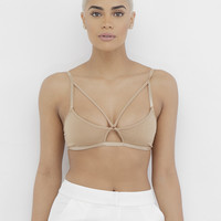 DIAMOND TIMES Cage Bralette in Nude at FLYJANE