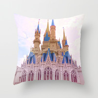 Princess Castle Throw Pillow by Pink Fox Designs