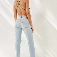 Levi's 501 Cropped Skinny Jean - Bowie Blue | Urban Outfitters