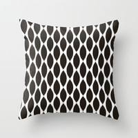 Velveteen Pillow - Black Ikat Petals - Black and White Throw Pillow - Housewares - Housewarming Gift - Accent Pillow