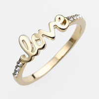 Ariella Collection 'Messages - Love' Script Ring (Nordstrom Exclusive) | Nordstrom