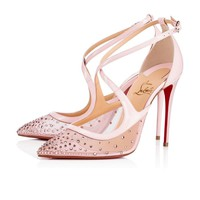 Christian Louboutin Cl Twistissima Strass Version Vintage Rose Strass 18s Bridal 1180586p229 -