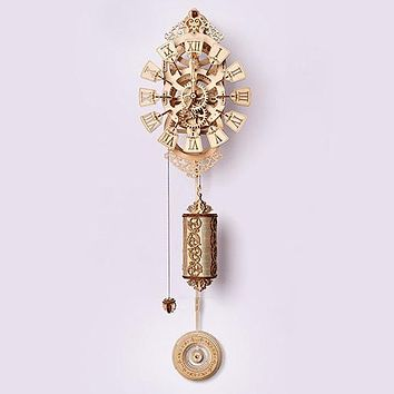 Pendulum Clock Wooden 3D Model