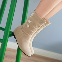 Rhinestone Star Ankle Boots Women Shoes Fall|Winter
