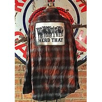 Herd That Art Flannel -Antique Black- Angry Minnow Vintage