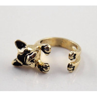 Dog  ring, retro style dog ring, wedding jewelry, gift for girlfriend, Christmas gift.