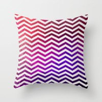 *** CHEVRON ROYAL ***  Throw Pillow by Monika Strigel in new trendy berry colors!