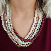 Find Your Way Necklace: Burgundy/Multi
