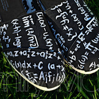 Custom, hand painted TOMS: Calculus and Mathematics