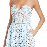 Self-Portrait Azalea Lace Fit & Flare Dress | Nordstrom
