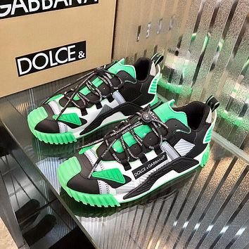 D&G DOLCE & GABBANA Men's And Women's Leather NS1 Low Top Sneakers Shoes