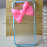 Iphone 5 case Iphone 5 Cover  Blue Color Frosted by TheArtCity