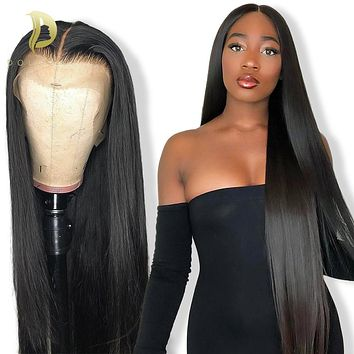 Short Lace Front Human Hair Wigs Bob Wig Brazilian Natural Long Straight Preplucked
