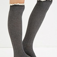Ruffly Over-The-Knee Socks