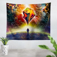 Astronauts Prism Tapestry
