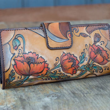 """Handmade Wallet """"Poppy"""" 