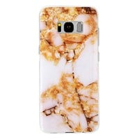 Amber Gold Marble Samsung Case