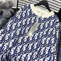 Dior×Stussy New fashion more letter print long sleeve top sweater