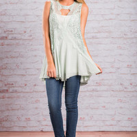 Course Of Love Tank, Mint