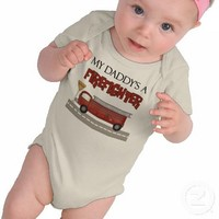 My Daddy's A Firefighter Shirts from Zazzle.com