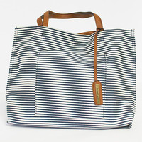 Striped Reversible Tote