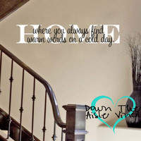 Home Wall Decal Quote