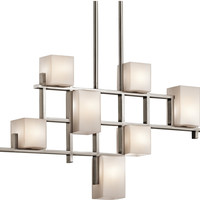 """0-027493>35""""w City Lights 7-Light Chandelier Classic Pewter"""