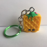 Shopkins Foodie Keychain - Waffle Sue (yellow) - repurposed toys
