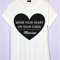 Wear Your Heart On Your Cheek T-Shirt