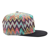 ROMWE Colorful Wave Print Baseball Cap