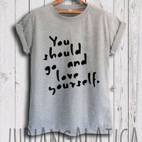 "justin bieber shirt justin bieber song ""you should go and love yourself"" tshirt justin bieber merch shirt unisex size"