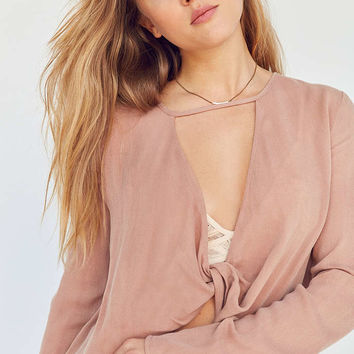 Silence + Noise Strappy Surplice Blouse - Urban Outfitters