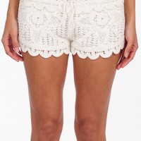 Surf Gypsy by Vintage Havana Crochet Cover Up Shorts