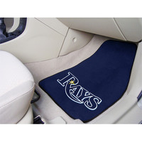 "Fan Mats Mlb Tampa Bay Rays 2 Piece Carpeted Car Mats 18""X27"""