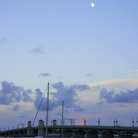 Full Moon Over St. Augustine Photographic Print
